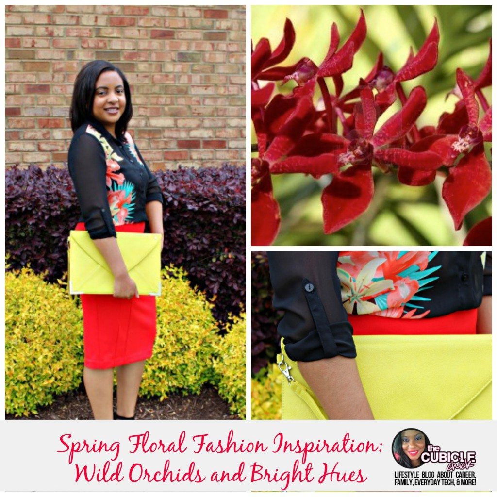 Spring Floral Fashion Inspiration Wild Orchids & Bright Hues