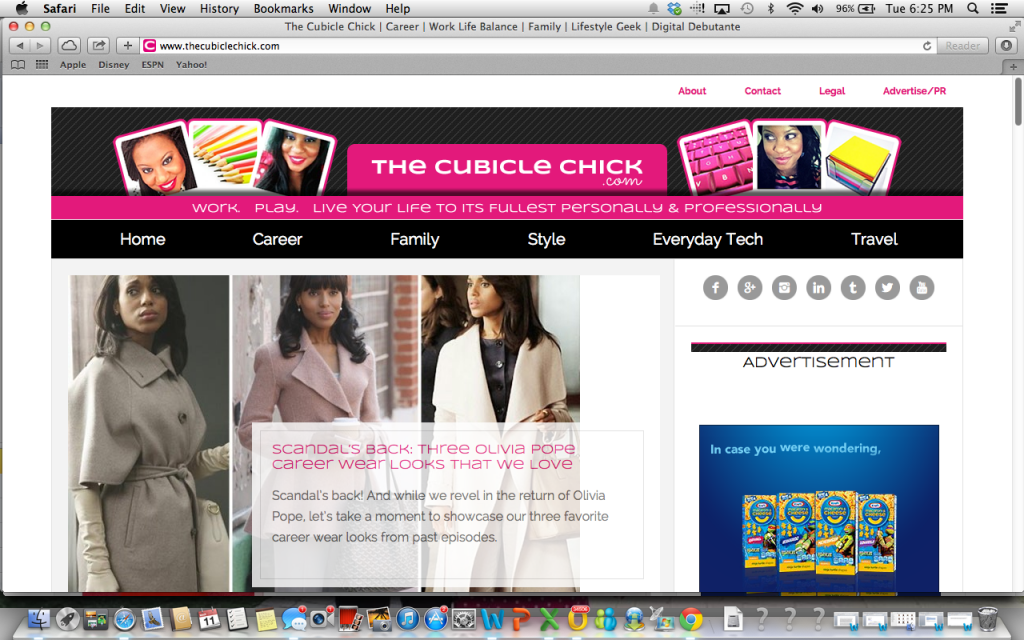 The Cubicle Chick website