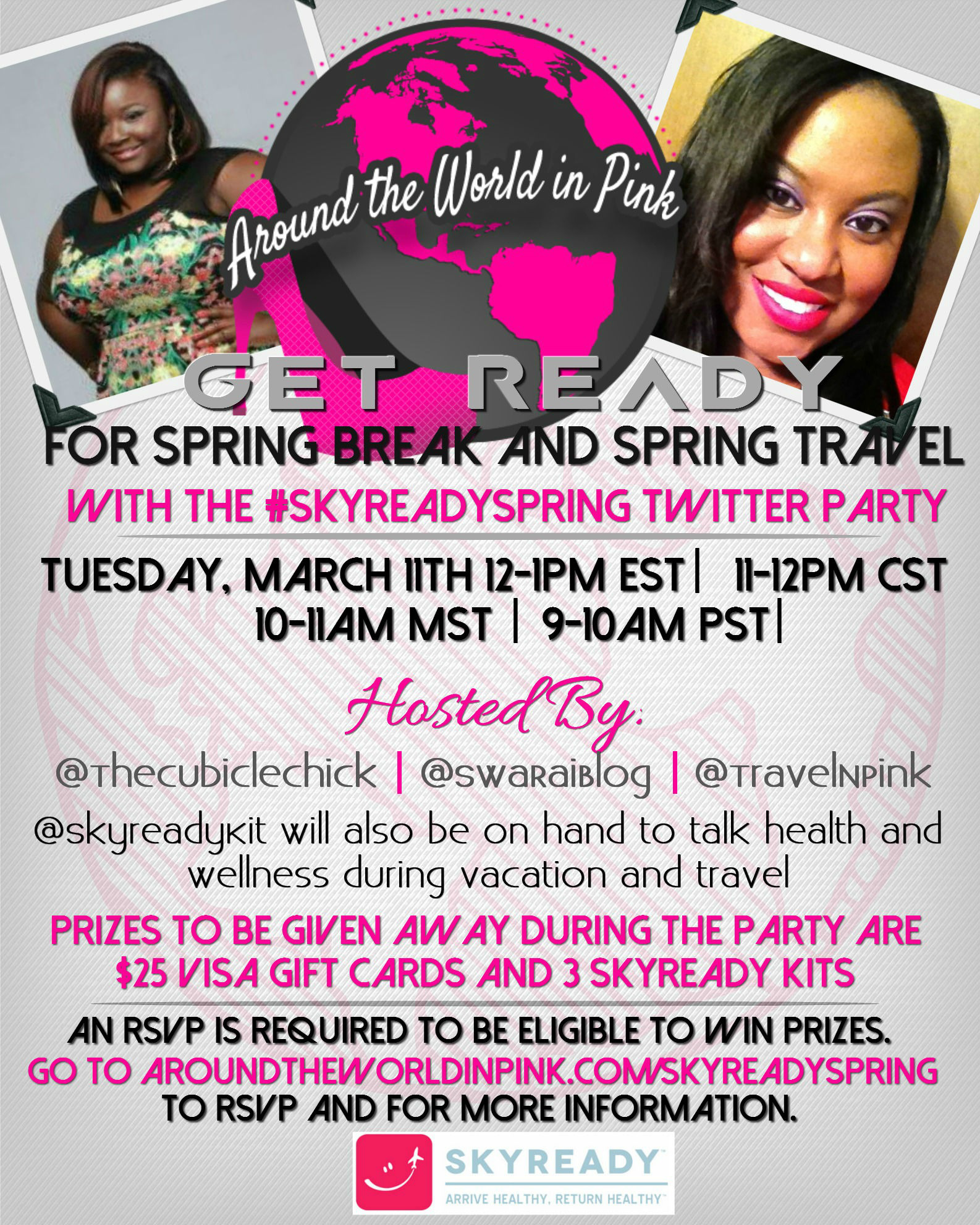 Join us for the #SkyreadySpring Twitter Party 3/11