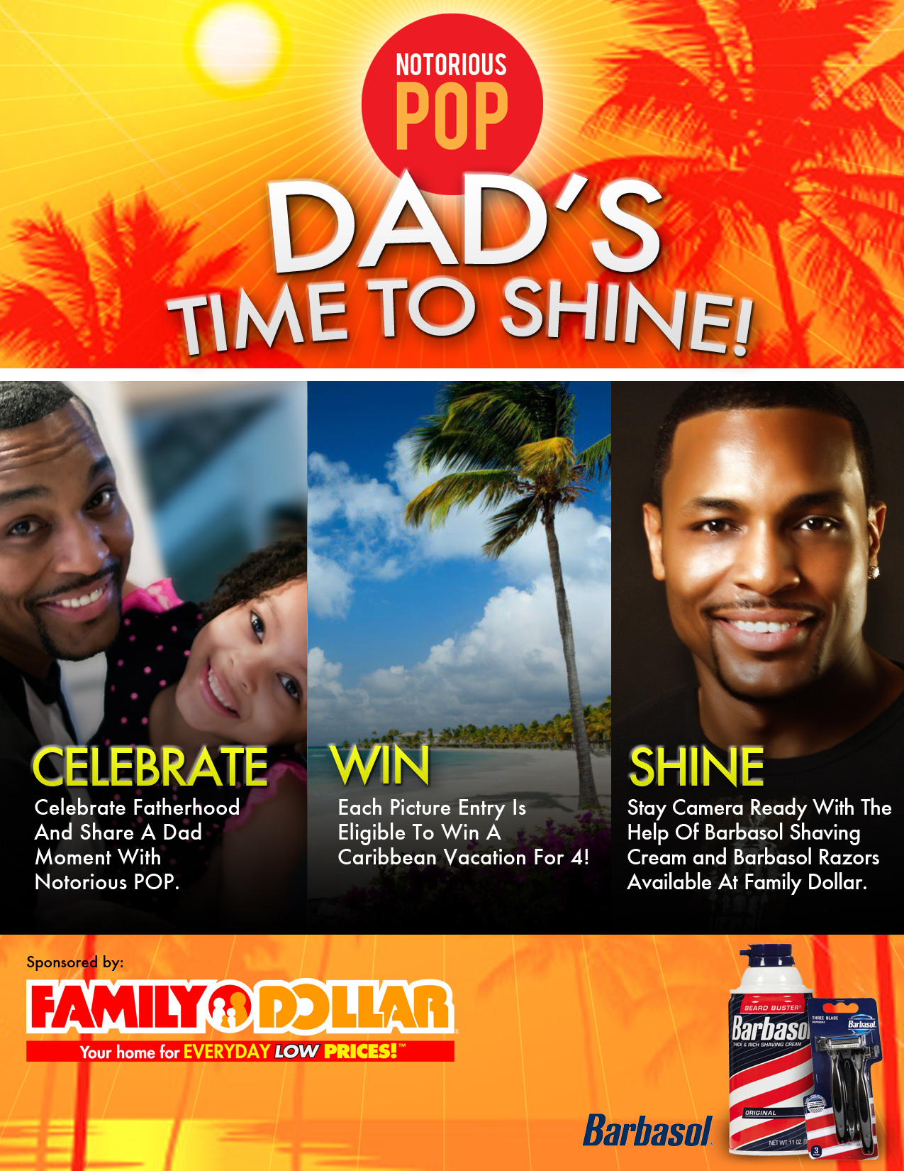 Help Celebrate Fathers & Win with @TheNotoriousPop #FamilyDollarBarbasol Twitter Party 6/12