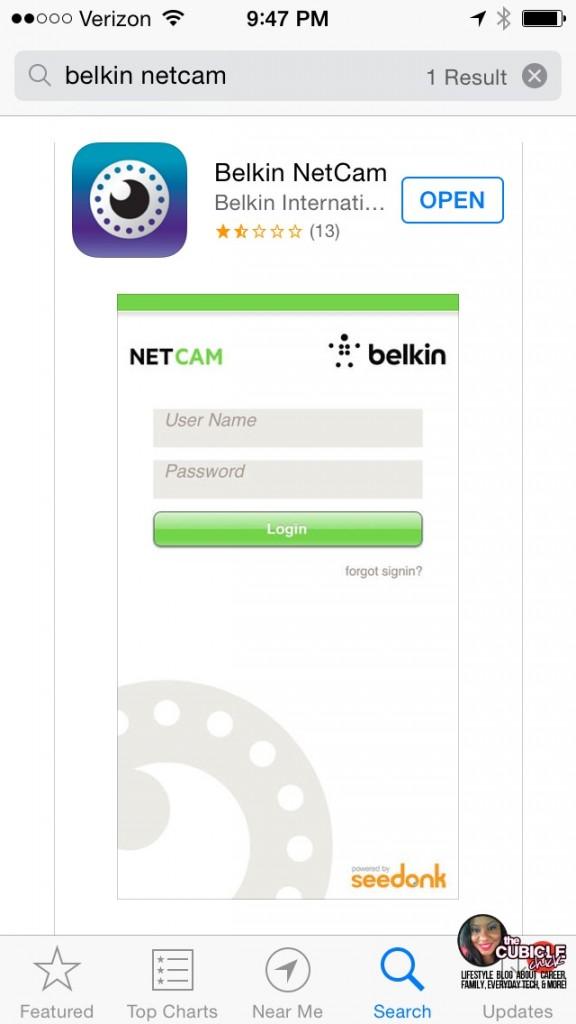 Belkin Netcam App