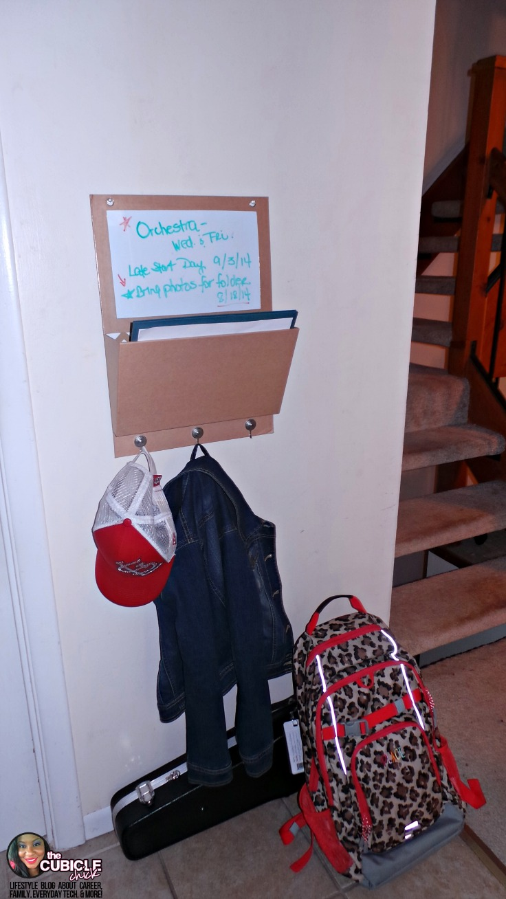 Parenting Hack for Busy Mornings: Out the Door Center #Partner