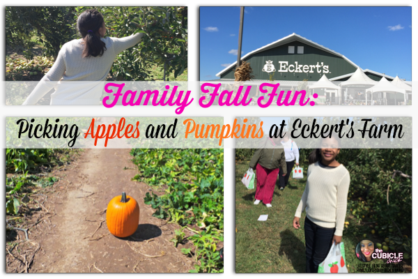 Family Fall Fun Picking Apples and Pumpkins at Eckert's Farm