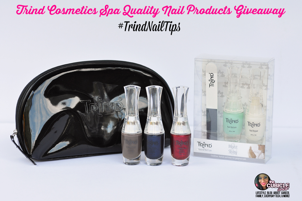 Giveaway Trind Cosmetics Spa Quality Nail Products #TrindNailTips