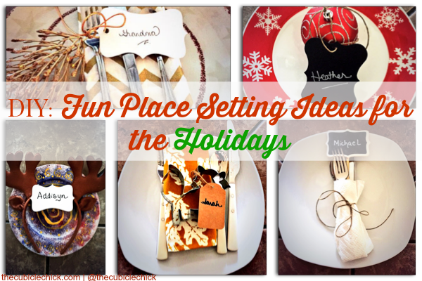 Holiday Place Card and Place Setting Ideas