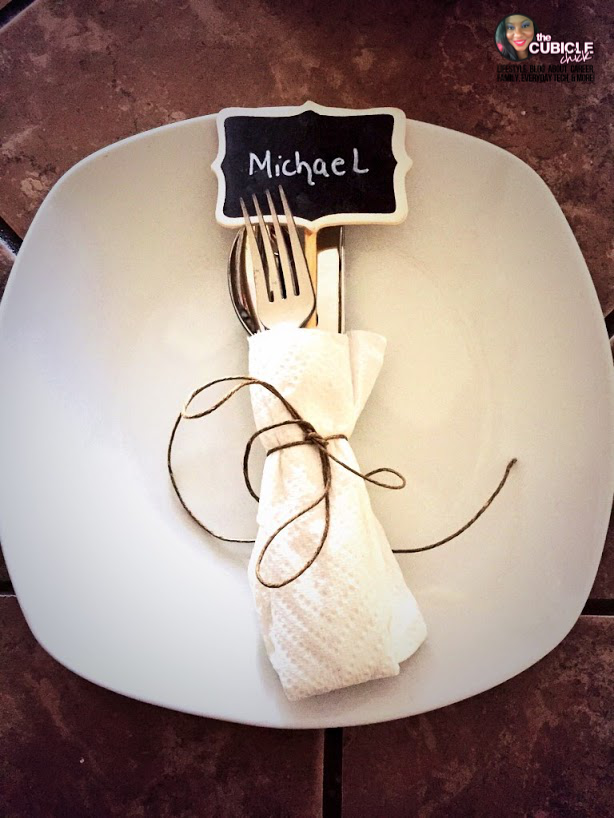 Holiday Place Setting Chalkboard