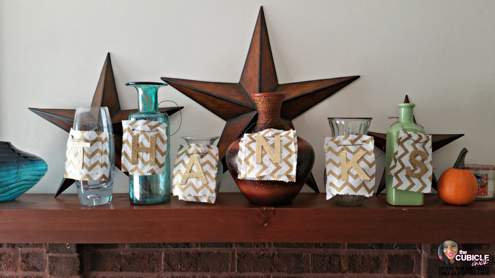 Thanks DIY Vases for Thanksgiving: Holiday Centerpiece or Mantle Decor