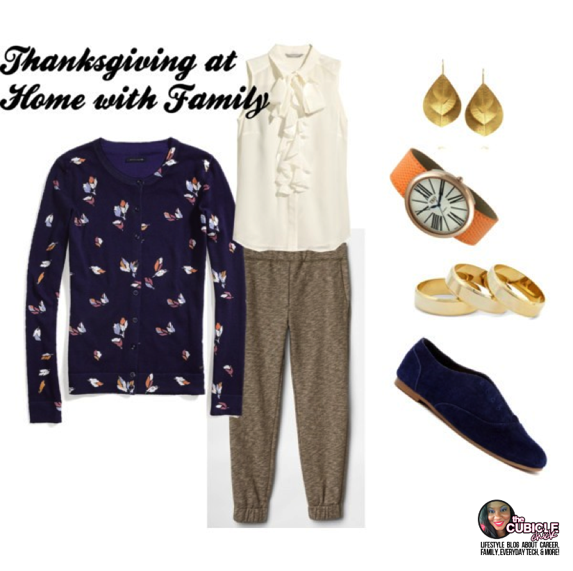 Thanksgiving at home with family what to wear