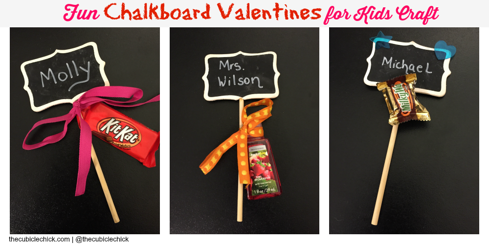 Fun Chalkboard Valentines for Kids DIY Craft