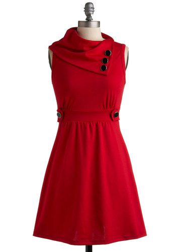 Coach Tour Red Dress in Rouge Modcloth