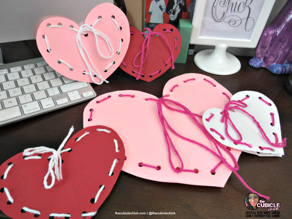 Homemade Valentine: Yarn and Paper Craft
