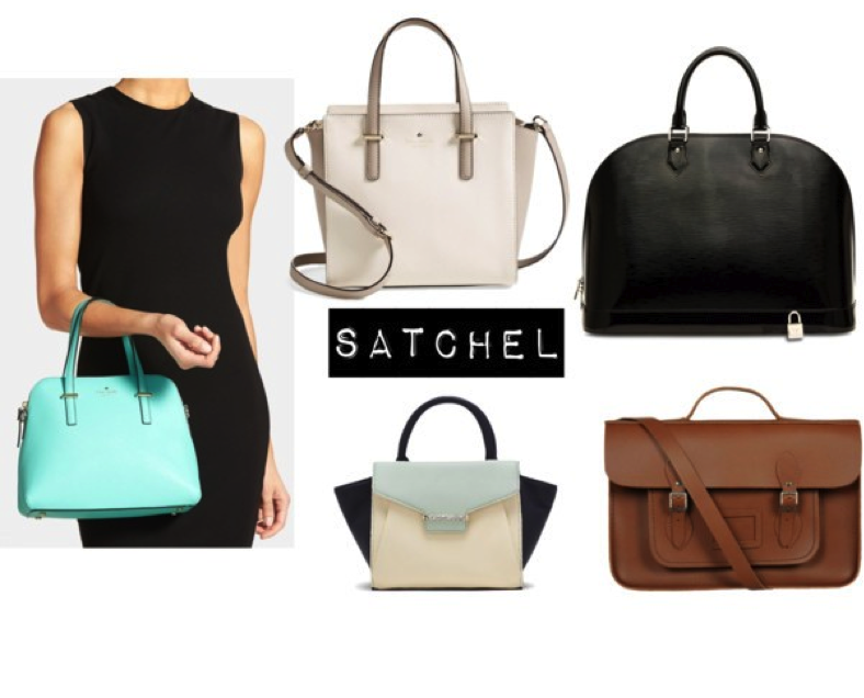 bb2241503 Neutral-toned satchels go with most outfits, but if you want a handbag that  will work overtime into happy hour, consider a medium-sized satchel in a  playful ...