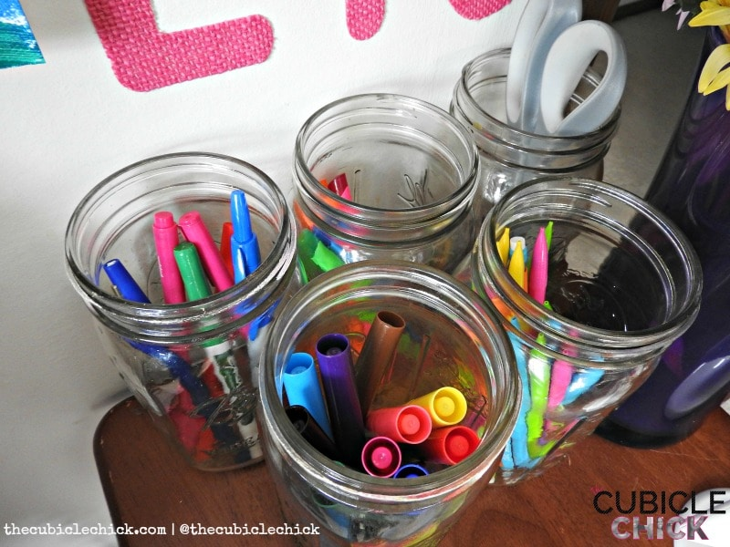 Mason Jar Cubbies DIY