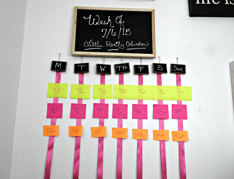 Diy Family Calendar : Diy family wall schedule calendar for the home