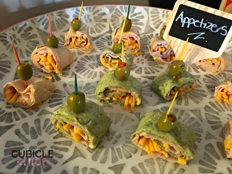 Turkey Wrap Appetizers with Healthy Ones