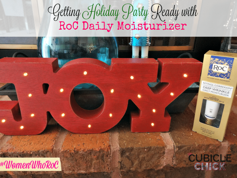 Getting Holiday Party Ready with RoC Daily Moisturizer