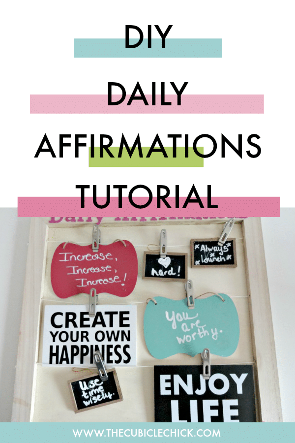 Learn how to create a DIY Affirmations Board that can help inspire and encourage you on a daily basis. Easy to make with items from Michael's.