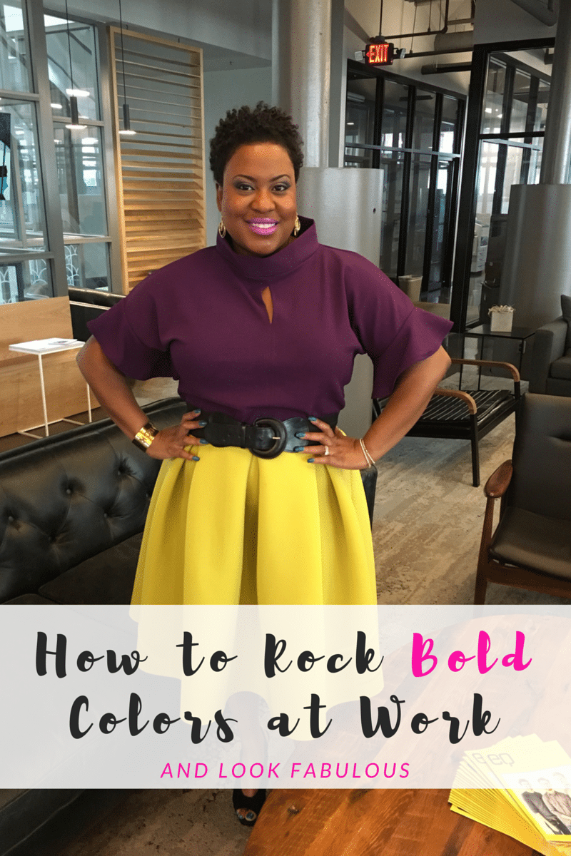 how to rock bold colors at work