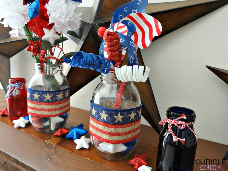Fourth of July Decor Jars