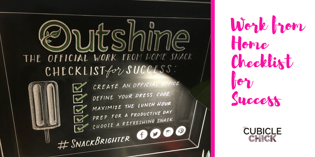 Work from Home Checklist for Success #SnackBrighter