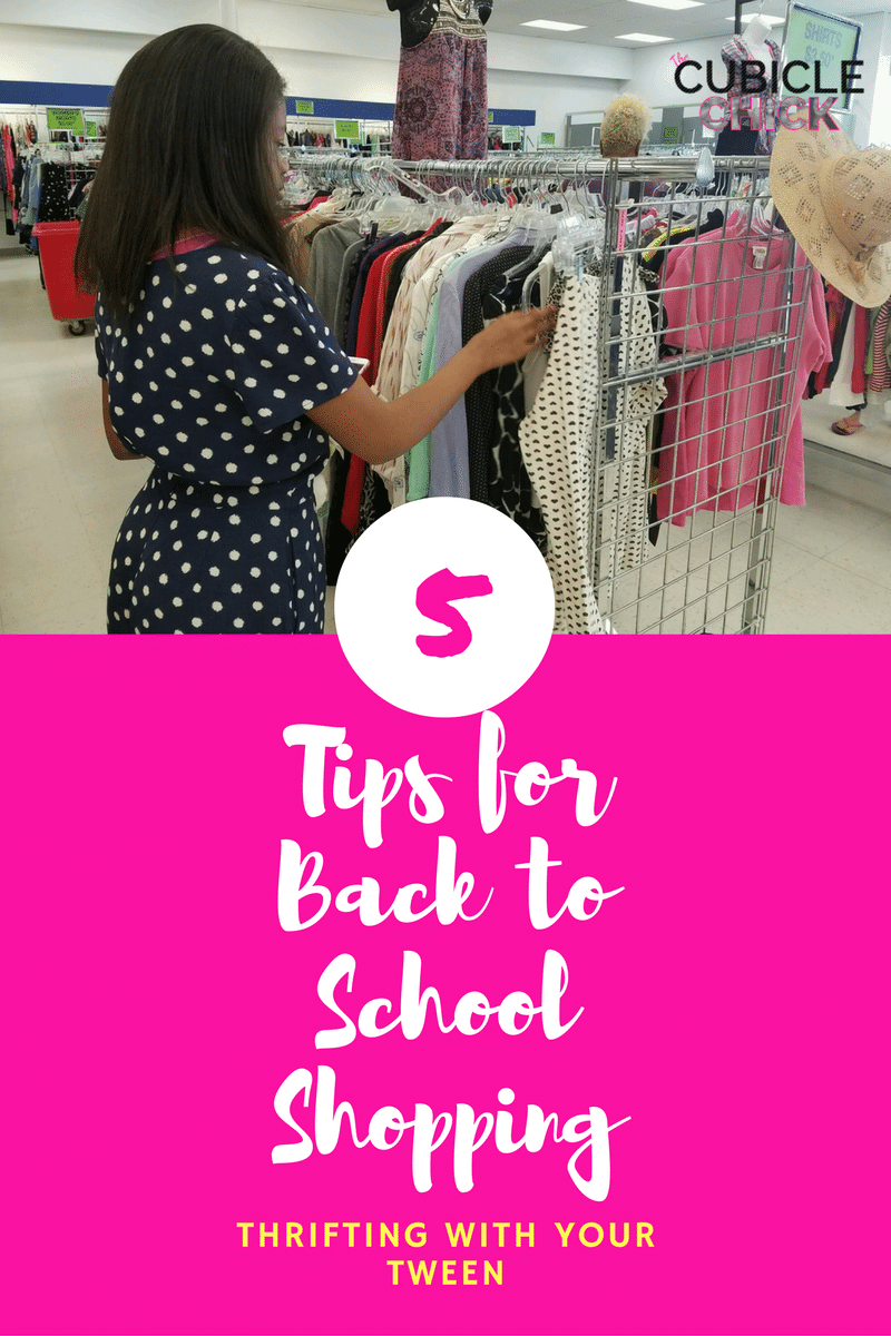 Thrifting Tween- 5 Tips for Back to School Shopping