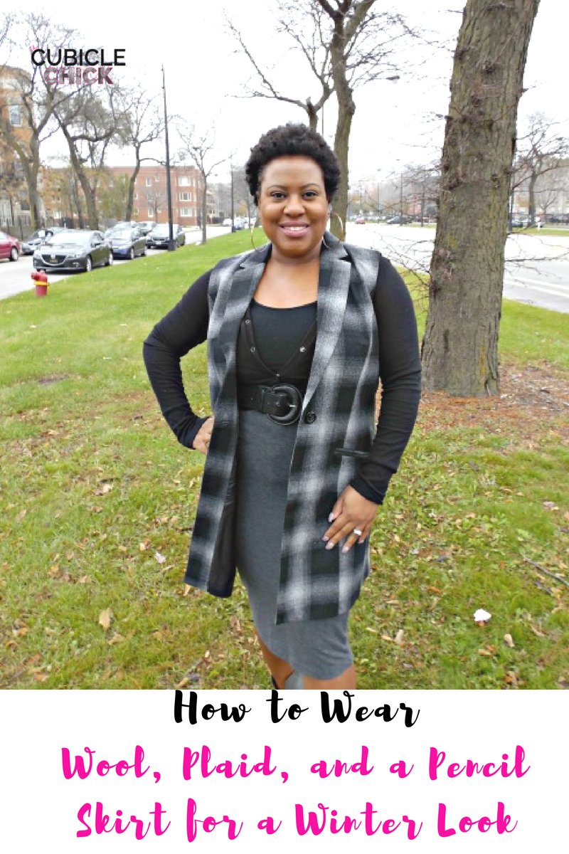 How to Wear Wool, Plaid, and a Pencil Skirt for a Winter Look