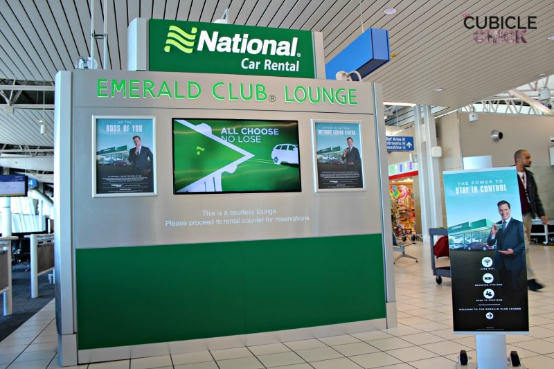 Charge and Chill at National Car Rental's Pop Up Emerald Club Lounge