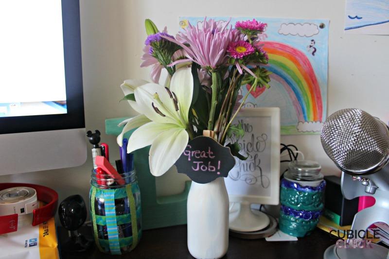 DIY Milk Jar Vase Craft