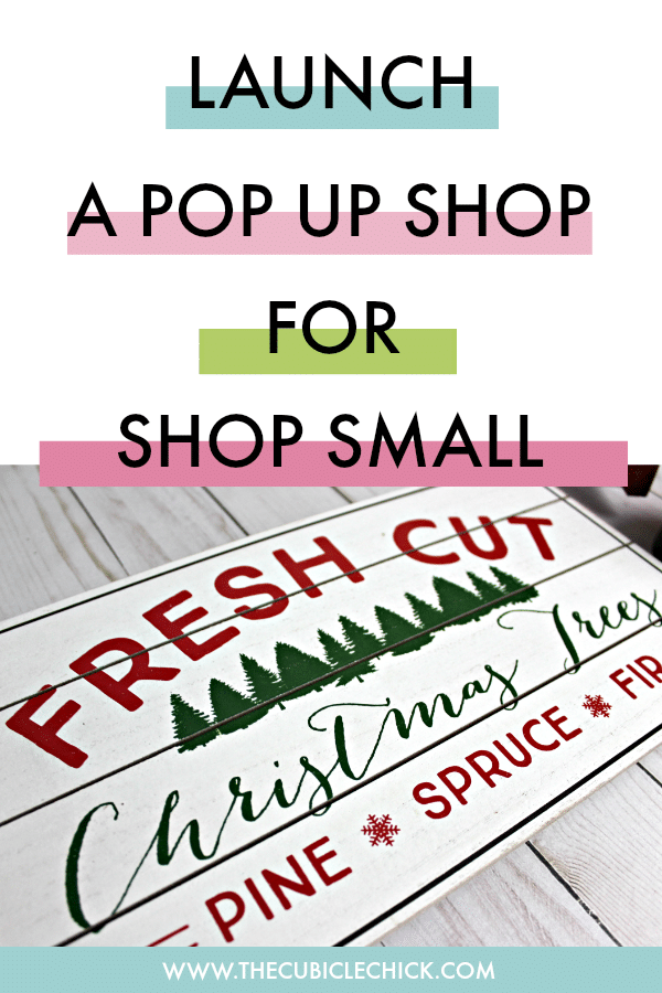 Want to boost sales for Small Business Saturday? Take your online business offline and launch a pop up shop.