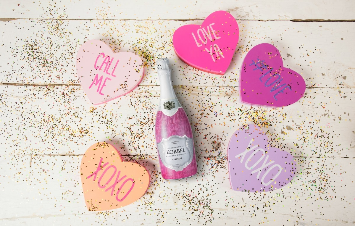 Toast it Up this Valentine's Day with a Korbel Love Letter Bottle