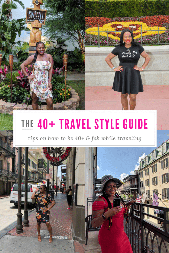 Being 40+ doesn't mean that you can't slay your style while traveling.