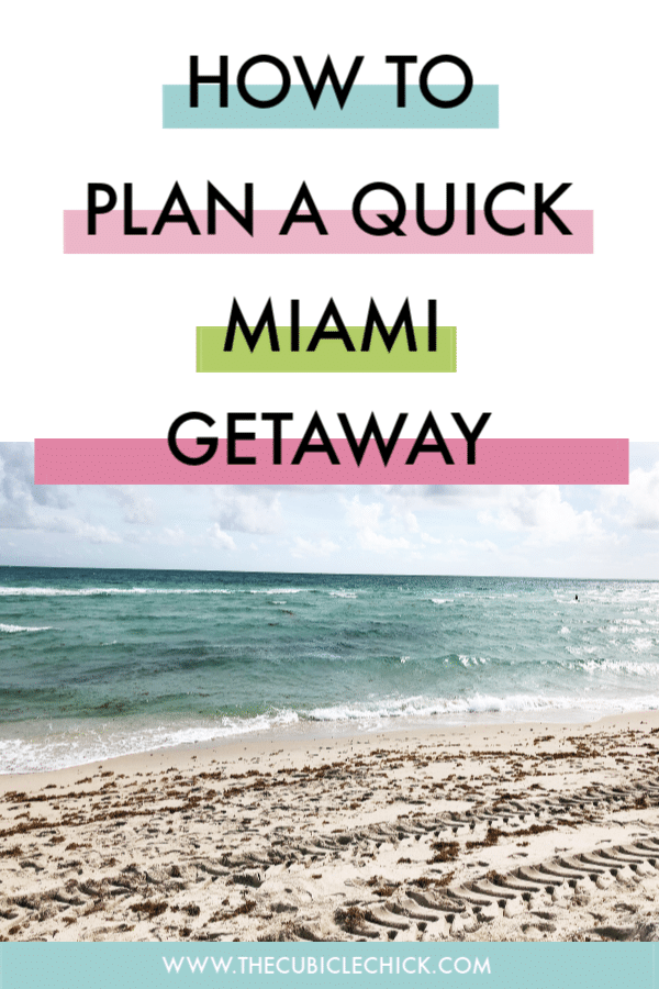 I needed a respite from cold weather in the Midwest, so I took a quick Getaway in Miami Beach to soak up some sun. Read about my experience.