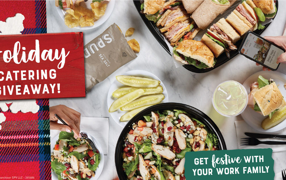 Enter the McAlister's Deli Giveaway to win a free catered lunch valued at $200 for your work family to celebrate the holidays in your office.
