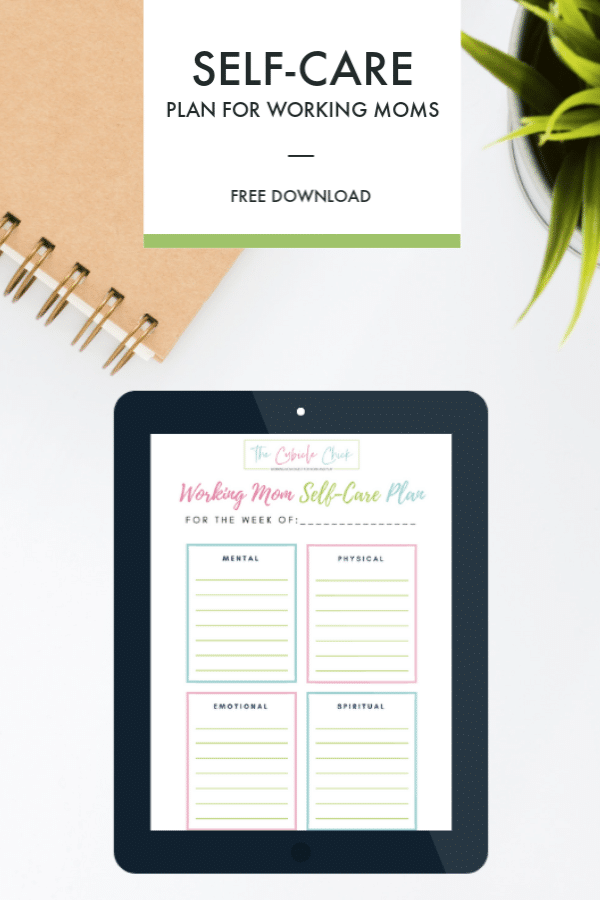 photo about Printable Self Care Plan identify Freebie: Down load My Cost-free Operating Mother Self-Treatment Method Printable