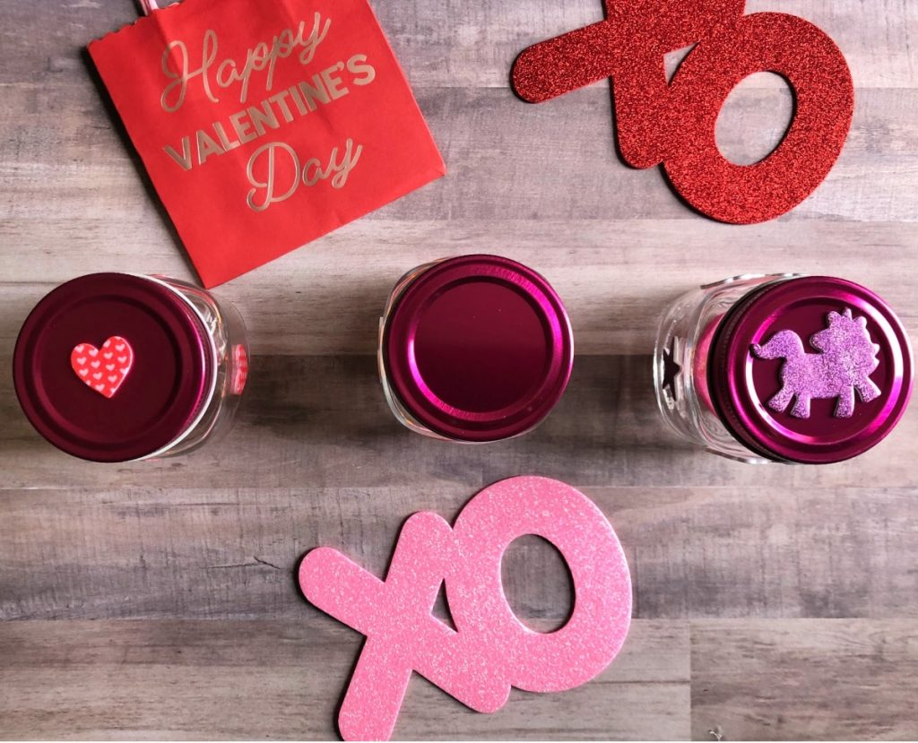 Are you looking to spice things up around the house for cupid? Try my easy to make Valentine Mason Jar Decor that is fun and lit!