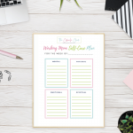 Without putting self-care into practice, it can be hard to implement. Download my free Working Mom Self-Care Printable so that you can make it a priority.