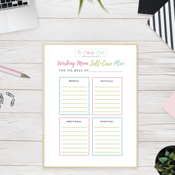 Download My Free Working Mom Self-Care Plan Printable