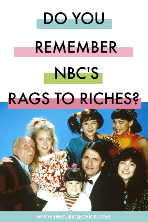 Rags to Riches was a musical series that had just two seasons on NBC in the 80's, but had a profound effect on this pre-teen black girl living in Phoenix.
