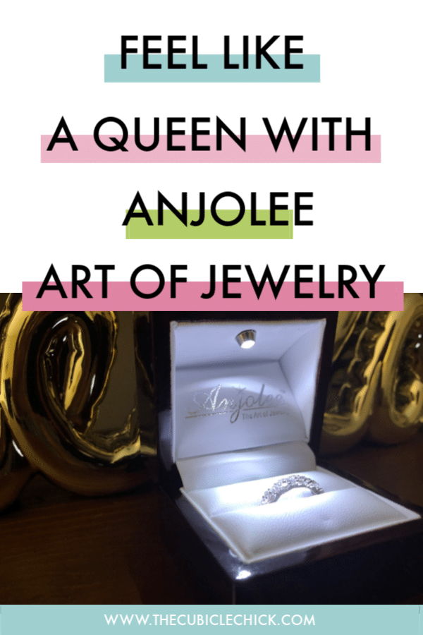 Anjolee, The Art of Jewelry makes a statement as soon as you open the box. Get a full review of my new Delightful Diamond Anniversary Ring.