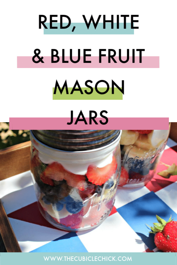 Help make yout holiday even more festive with my healthy Red White and Blue Mason Jars that are easy to create and make portable yumminess.