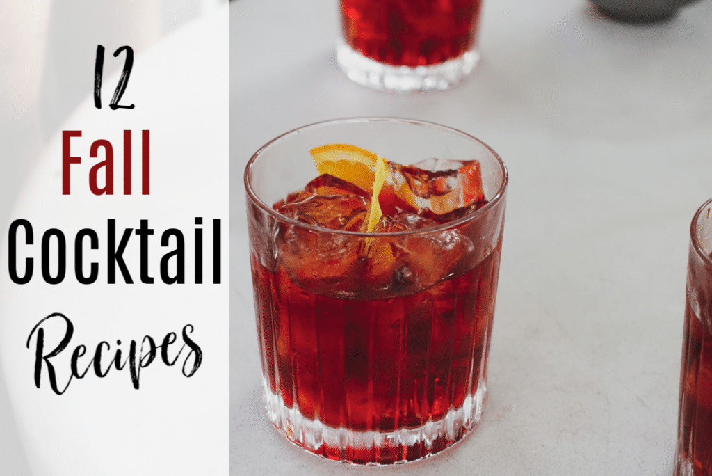 Relax, unwind, and enjoy the autumn season with these tried and true Fall Cocktails Recipes that are great for a Homemade Happy Hour.