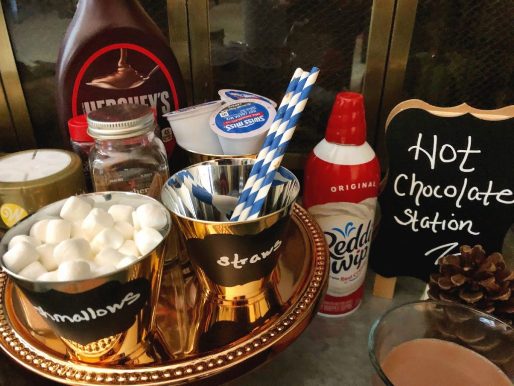 Cold weather means warming up your guests during holiday fetes. My Hot Chocolate Station set-up has everything you need to drop it like it's hot.