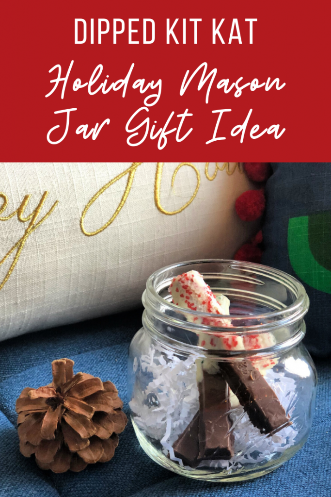 My Kit Kat Mason Jar Holiday Gift Idea is good for almost everyone on your list. Teachers, neighbors, and even stocking stuffers!