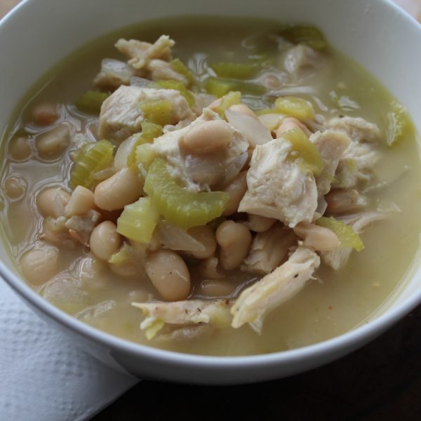 Low Fat White Bean and Chicken Chili Recipe