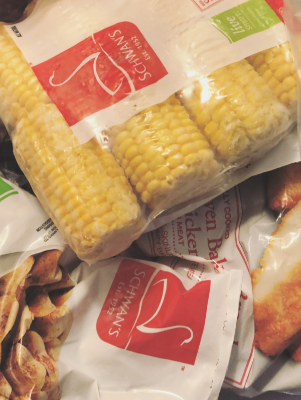 Schwan's Frozen food corn on the cob