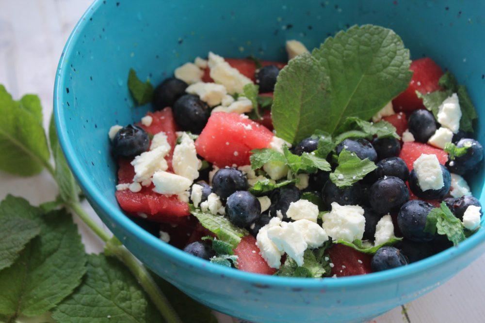 Spring and summer mean warmer temperatures and longer days. Celebrate the season with this Watermelon Feta Salad recipe that is easy to make.