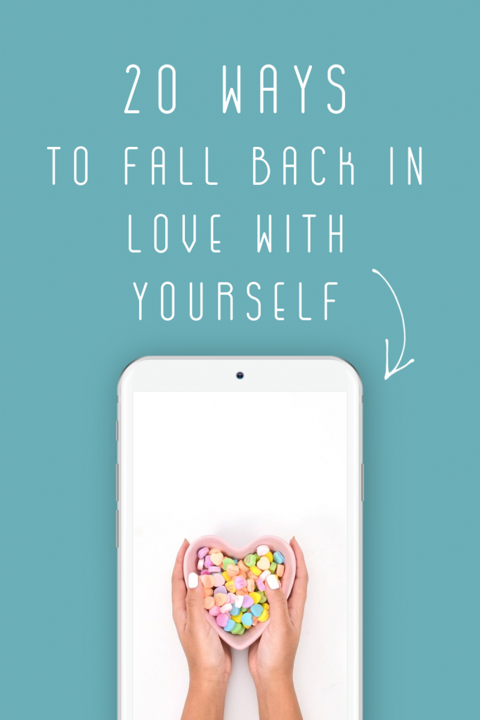 Combat negativity and negative self-talk with my 20 ways to fall back in love with yourself. You have so much to offer others and yourself!