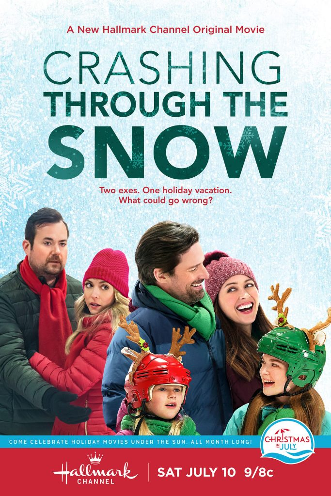 If you can't wait for the holidays, Hallmark Channel's Crashing Through The Snow is for you! It's Christmas in July!